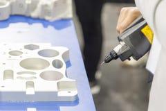 El brazo de la exploración del laser 3D Fotografía de archivo libre de regalías