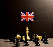El Brexit y la bandera del Reino Unido Union Jack imagen de archivo libre de regalías