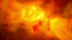 El brillar intensamente anaranjado del humo ilustración del vector