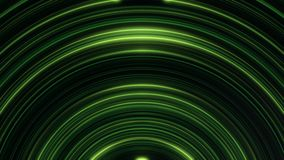 El brillar intensamente, arqueado, líneas de las Líneas Verdes que rielan sin fin Animación inconsútil, loopable de las rayas abs ilustración del vector