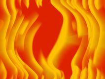El brillar intensamente caliente movimiento anaranjado y amarillo stock de ilustración