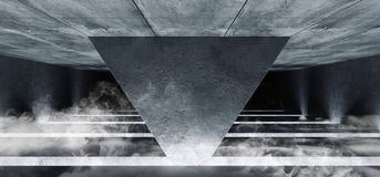 El brillar intensamente cinemático blanco del espacio del Grunge de la columna del triángulo del vapor de la niebla del humo del  libre illustration
