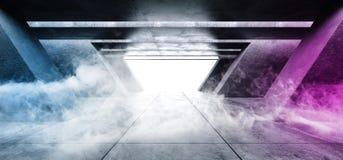 El brillar intensamente cinemático púrpura azul blanco del espacio del Grunge de la columna del vapor de la niebla del humo del g libre illustration
