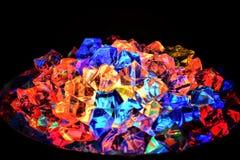 El brillar intensamente de cristal Imágenes de archivo libres de regalías