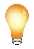 El brillar intensamente del bulbo ilustración del vector
