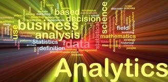 El brillar intensamente del concepto del fondo de Analytics Fotografía de archivo