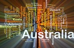 El brillar intensamente del concepto del fondo de Australia Fotos de archivo libres de regalías
