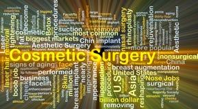El brillar intensamente del concepto del fondo de la cirugía cosmética Imagen de archivo libre de regalías