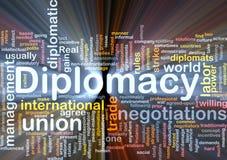 El brillar intensamente del concepto del fondo de la diplomacia Imágenes de archivo libres de regalías