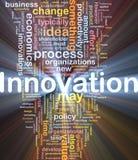 El brillar intensamente del concepto del fondo del asunto de la innovación Foto de archivo