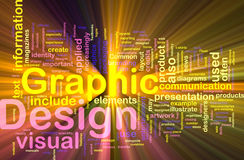 El brillar intensamente del concepto del fondo del diseño gráfico Fotografía de archivo libre de regalías