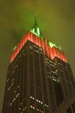 El brillar intensamente del Empire State Fotos de archivo libres de regalías