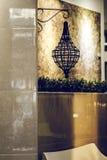 El brillar intensamente ligero de lujo retro hermoso de la decoración de la lámpara Foto de archivo