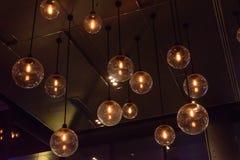 El brillar intensamente ligero de lujo retro de la decoración de la lámpara Imagenes de archivo