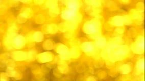 El brillar tenuemente Defocused abstracto Bokeh de oro borroso Navidad Decoración y celebración del Año Nuevo holidays almacen de video
