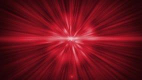 El brillo brillante blanco y rojo oscuro abstracto Bokeh irradia y las partículas de los movimientos del polvo de estrellas