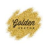 El brillo del oro chispea fondo brillante del vector del confeti Imagen de archivo libre de regalías