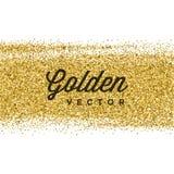 El brillo del oro chispea fondo brillante del vector del confeti Foto de archivo libre de regalías