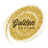 El brillo del oro chispea vector brillante del blanco del confeti Fotos de archivo libres de regalías