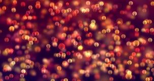 El brillo digital de la Navidad chispea el bokeh de las partículas del multicolor que fluye en el fondo colorido, Feliz Año Nuevo metrajes