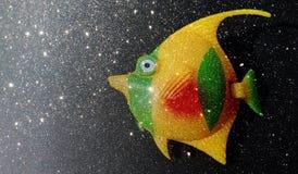 El brillo texturizó la plantilla abstracta del fondo de los pescados, diseño de la plantilla de los gráficos stock de ilustración