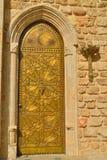 El bronce martilló la puerta en el Jaffa antiguo Fotografía de archivo libre de regalías