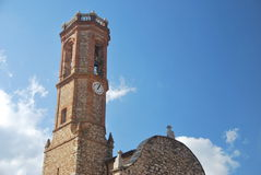 El Bruc's church. Tower bell of El Bruc's church in Catalonia, Spain Royalty Free Stock Images