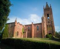 EL Brull della chiesa di Mas Casademunt fotografie stock
