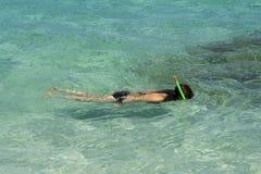 El bucear en las zonas tropicales Fotos de archivo libres de regalías