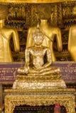 El Buda de oro es hermoso que adoración de los budistas fotos de archivo libres de regalías