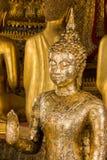 El Buda de oro es hermoso que adoración de los budistas imágenes de archivo libres de regalías