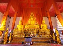 El Buddha de oro más grande con su santo en Samuth Imagen de archivo
