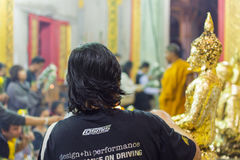 El buddhism tailandés ruega para la adoración del beneficio Fotos de archivo libres de regalías