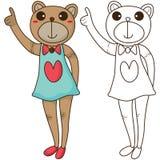 El buen colorear del oso Imagen de archivo libre de regalías