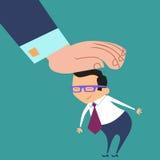 El buen jefe del trabajador elogia al hombre de negocios Imagen de archivo