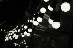 El bulbo circular de la lámpara del LED puso la cabina al aire libre de la decoración en foco selectivo justo imagenes de archivo