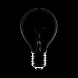 El bulbo de la idea apaga Fotografía de archivo libre de regalías