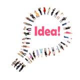 El bulbo es una muestra para una idea Fotos de archivo libres de regalías