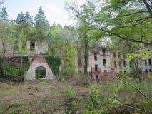 El bulding arruinado abandonado hermoso Fotografía de archivo