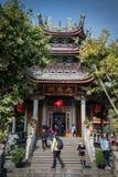 El buliding del chino tradicional del templo del nanputuo Imagenes de archivo