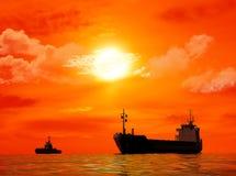 El buque de carga ilustración del vector