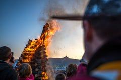 El burning de brujas Imagen de archivo