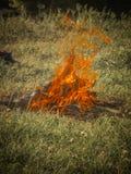 El Burning del fuego pudo Fotos de archivo