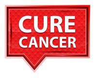 El cáncer de la curación brumoso subió botón rosado de la bandera stock de ilustración