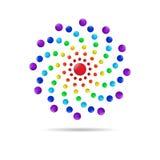 El círculo abstracto puntea el icono del logotipo 3d Imagen de archivo