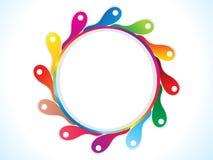 El círculo artístico abstracto del arco iris estalla Foto de archivo libre de regalías