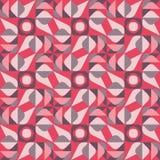 El círculo cuadrado geométrico inconsútil del triángulo del vector forma a Tan Color Quilt Ethnic Pattern rojo marrón Imagen de archivo