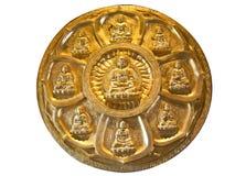 El círculo de buddha de oro Imagen de archivo libre de regalías
