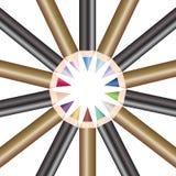 El círculo de compone los lápices Imágenes de archivo libres de regalías
