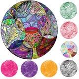 El círculo de elementos de la abstracción Imágenes de archivo libres de regalías